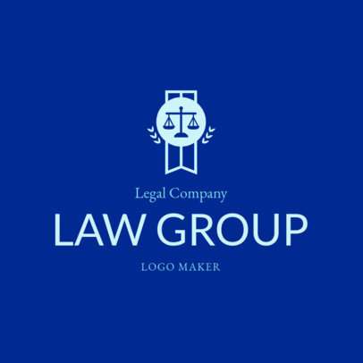 Law Firm Logo Maker with a Justice Balance Badge 1854b