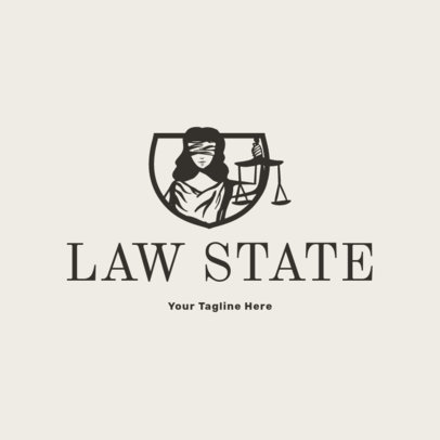 Logo Generator for a Law Firm with a Lady Justice Clipart  1854c