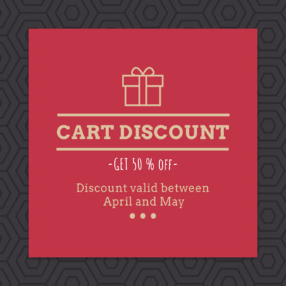 Coupon Design Maker for a Cart Discount 1020b
