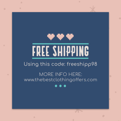 Free Shipping Coupon Maker with a Lovely Design 1020e