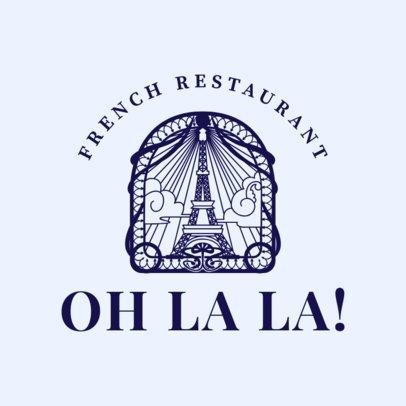 Classic French Restaurant Logo Generator 1809d