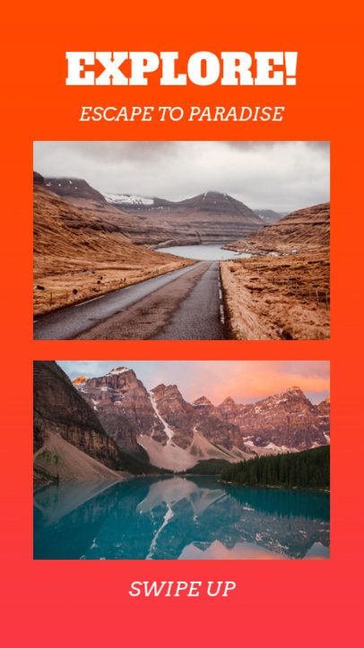Instagram Story Template with Travel Landscapes 962a
