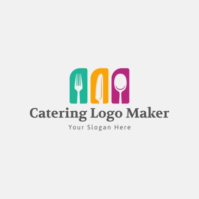 Modern Logo Maker for a Catering Service 1923