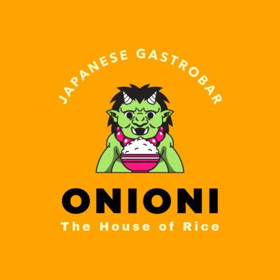 Japanese Food Logo Maker for Gastro-bars 1826d