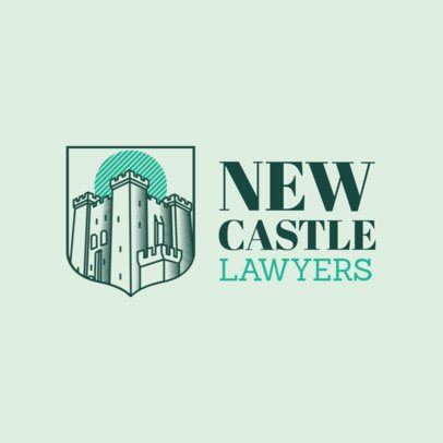 Lawyer Logo Maker with Castle Clipart 1855a