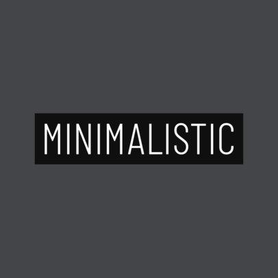Subtle Logo Maker for Minimalistic Clothing Brands 1936b