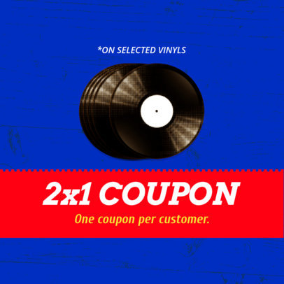 Customizable Coupon Template for a Music Sale 1014b