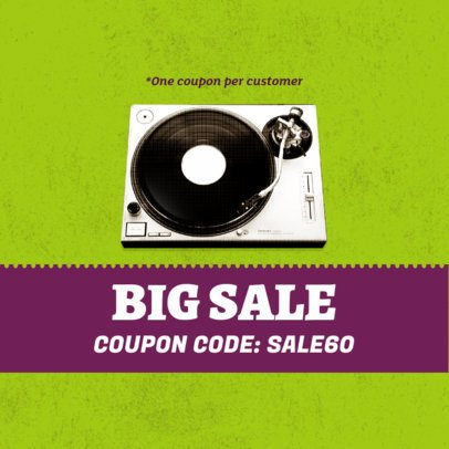 Big Music Sale Code Coupon Design 1014c