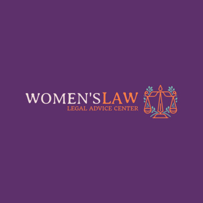 Women's Law Firm Logo Creator 1852b