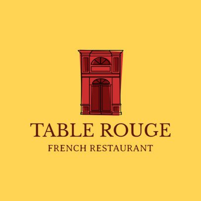 French Food Logo Maker with a Classic Illustration 1811d