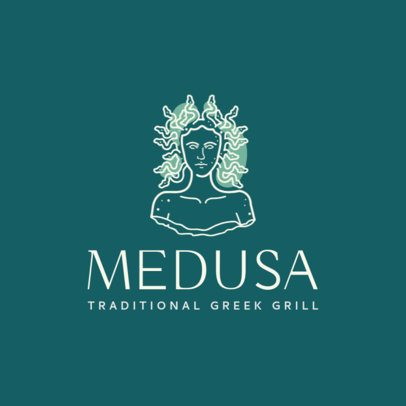 Greek Restaurant Logo Maker for a Greek Grill 1913e