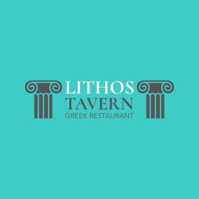 Greek Food Logo Maker for a Greek Tavern 1911a