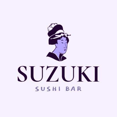 Japanese Restaurant Logo Maker for a Sushi Bar 1824d