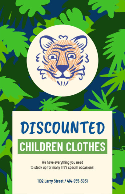 Discounted Children's Clothes Flyer Design Maker 502c