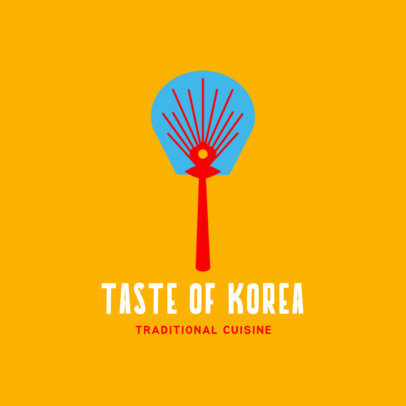 Simple Korean Food Logo Generator 1922c