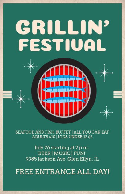Online Flyer Maker for a Grill Festival 78a