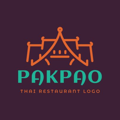 Logo Maker for a Thai Restaurant with Bold Typography 1840e