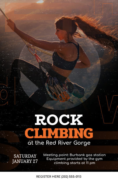 Online Flyer Maker for Rock Climbing 108a