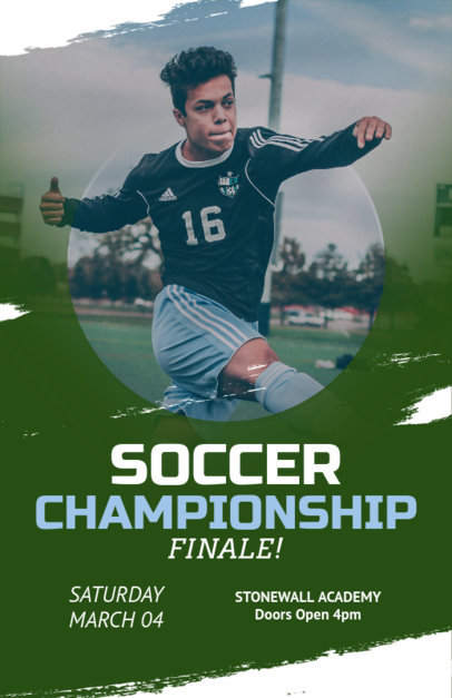 Online Flyer Maker for Soccer Championships 108b