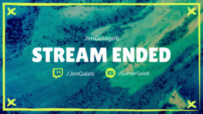Stream Ended Twitch Overlay Maker 1222c