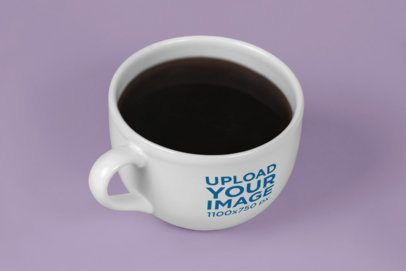 Mockup of a Big Coffee Mug in a Plain Set 26467
