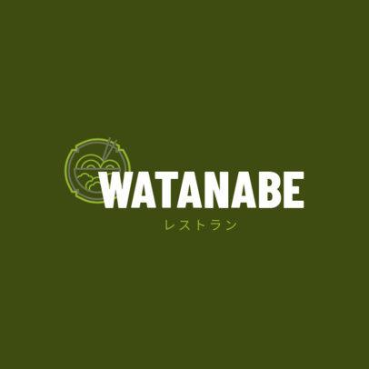 Logo Maker for a Japanese Restaurant with Ramen Graphics 1823b