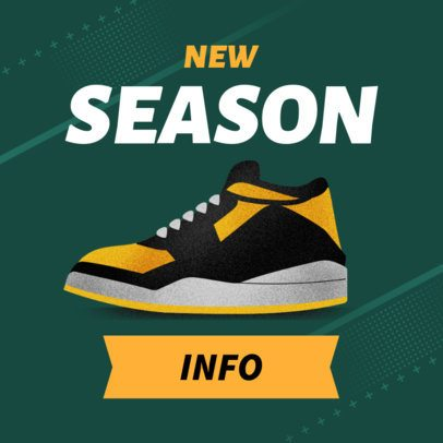 New Season Tennis Shoes Online Ad Banner Maker 538d