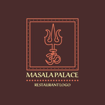 Indian Food Logo Maker for a Masala Restaurant 1832b
