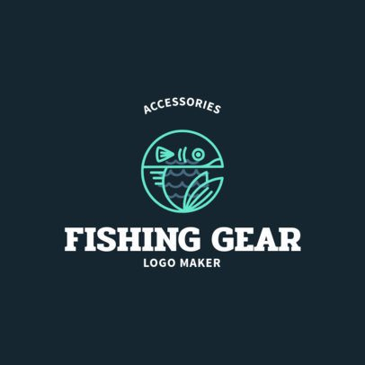 Fishing Logo Maker with Fish Silhouette Graphics 1795e