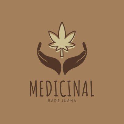 Medical Marijuana Logo Template with Weed Symbol 1780a