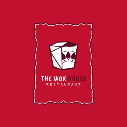 Thai Restaurant Logo Template for a Wok House 1841e