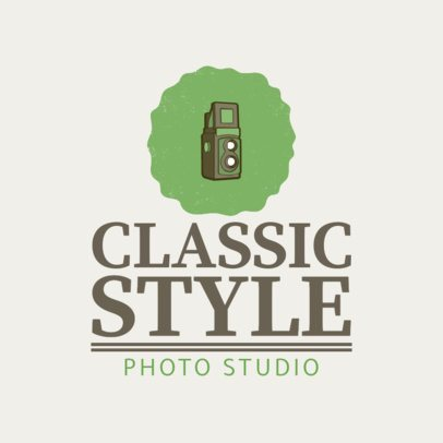 Classic Photo Studio Logo Maker With Vintage Camera Clipart 1439e