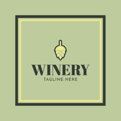 Elegant Wine Store Logo Maker 1816b