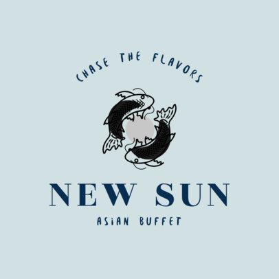 Chinese Restaurant Logo Maker for an Asian Buffet 1672e