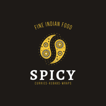 Fine Indian Food Logo Template 1836e