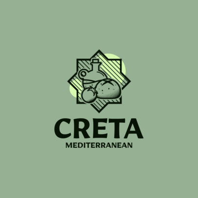 Restaurant Logo Maker with Mediterranean Cuisine Graphics 1929b