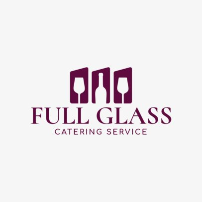 Catering Service Logo Maker with Wine Clipart 1923e
