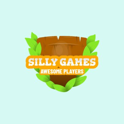 Adventure Gaming Logo Generator with Shield Clipart 1875d