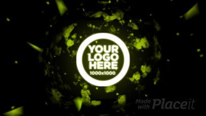 Intro Maker Video for a Logo Reveal with Neon Motion Graphics 1441