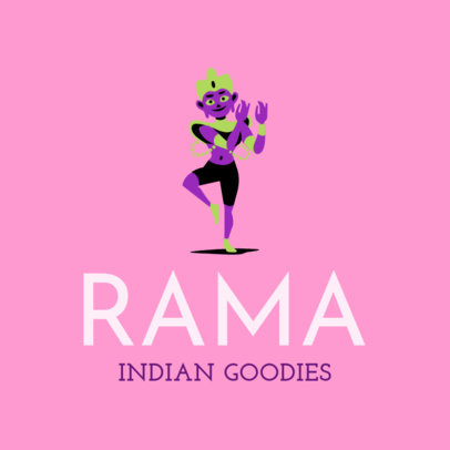 Logo Generator for an Indian Food with Rama Clipart 1831e