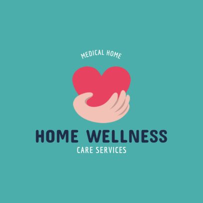 Home Wellness Logo Generator with a Caring Heart Graphic 1802b