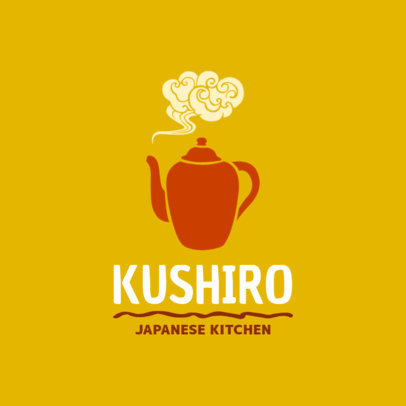 Japanese Kitchen Logo Design Template 1825b
