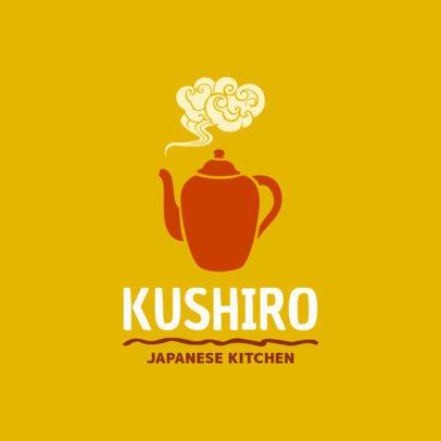 Japanese Kitchen Logo Design Template 1825b