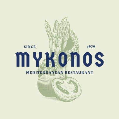 Elegant Logo Maker for a Traditional Mediterranean Food Restaurant 1931a