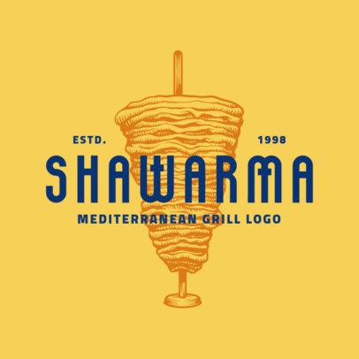 Mediterranean Grill Logo Maker 1931e