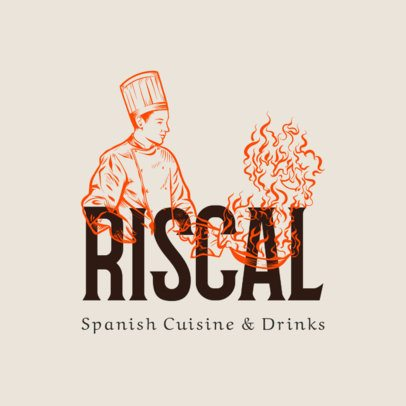Logo Generator for an Elegant Spanish Kitchen Restaurant 1916b