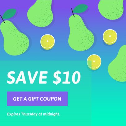 Promotional Coupon Design Maker with Tropical Style 1010b