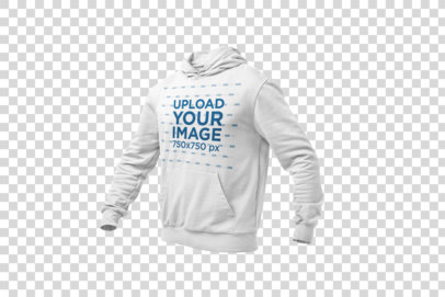 Mockup of a Ghosted Pullover Hoodie 26962