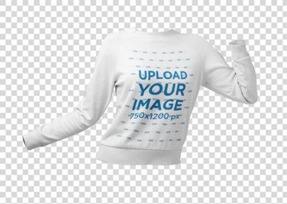 Mockup of a Ghosted Women's Sweatshirt in a Dynamic Pose 26952