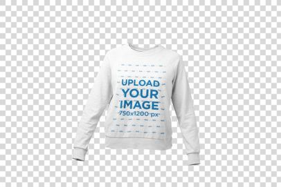 Mockup of a Ghosted Women's Crewneck Sweatshirt 26953